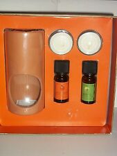 White Barn PERFECT AUTUMN Pumpkin Apple Fragrance Oil Tealights Warmer Set New