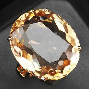 Morganite Peach Orange Oval 18 Ct.Sapp 925 Sterling Silver Rose Gold Ring Size 7