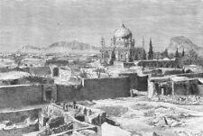AFGHANISTAN. Kandahar c1885 old antique vintage print picture