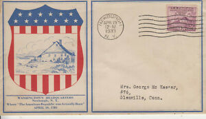 FDC #727 HOBBY SERVICE BEAUTIFUL CACHET NEWBURGH,NY APR 13 1933 FREE FLAP TA
