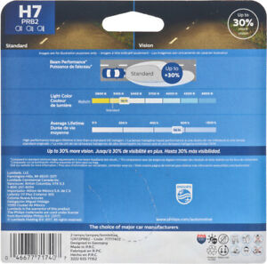 Headlight  Philips  H7PRB2