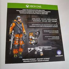(DLC ADD-ON ONLY) Tom Clancy's The Division HAZMAT GEAR (XBOX ONE) #2108