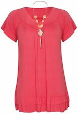 New Ladies Coral Necklace Gypsy Tops 12-22