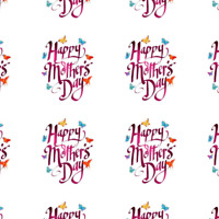 Personalised happy mothers day stickers seals gift tags presents