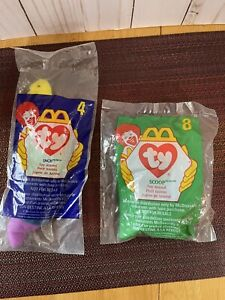 TY Beanie Babies McDonalds. lot of 2 Sealed Inch And Scoop