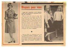 1963 : Document (Ref FI  899) : article MICHELINE ET JACQUELINE FOURNIER  (1 p)