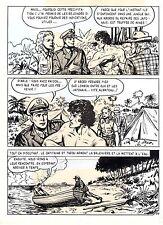 TAROU CONTRE LES SOLDATS JAPONAIS (BOB DAN) PLANCHE ORIGINALE AREDIT  PAGE 25