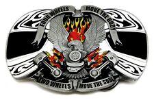 Biker Belt Buckle Eagle Helmet & V Twin Motorcycle Bike Authentic Dragon Designs