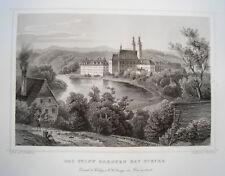 Benedictine Abbey garsten in STEYR AUSTRIA Real Age Steel Engraving 1844