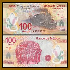 Mexico 100 Pesos, 2010 P-128 Polymer Revolution Commemorative Train, Unc