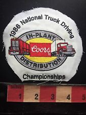 Patch-ish (shirt cutout) COORS In Plant Distribution 1986 Truck Driving C75L