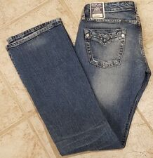 NWT Women's Wendie Replay Jeans Sz 28x32 Gem Stone Embellishment Pocket Low Rise