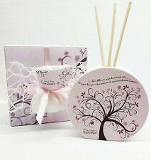 Bomboniera comunione cresima albero della vita profumatore rosa personalizzato