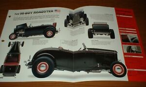 1932 FORD HI-BOY ROADSTER ORIGINAL IMP BROCHURE SPECS INFO 32 HIBOY HIGH HIGHBOY