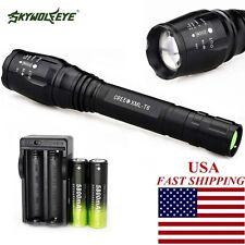 Tactical 20000Lumen 5 Mode lamp Xml T6 Led Flashlight+18650+Charger Adjustable I