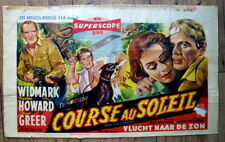 belgian poster RUN FOR THE SUN, RICHARD WIDMARK, JANE GREER, PETER VAN EYCK