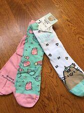 BNWT Official Pusheen Cat Socks 3 Pairs Size UK Ladies 4-7 Girls 11+years