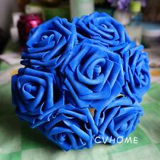 100Colourfast Foam Roses Artificial Flower Wedding Bride Bouquet Party Decor DIY