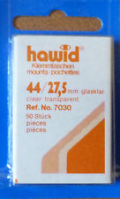 HAWID STAMP MOUNTS CLEAR Pack of 50 Individual 44mm x 27.5mm - Ref. No. 7030