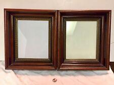 """2 Antique Frames Deep Profile Walnut Eastlake Frames 8""""x10"""" GlassSize MatchedSet"""