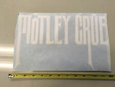 "Motley Crue 11"" WHITE  vinyl decal sticker window bumper music band rock punk"
