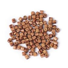 100pcs Wood Beads for Jewelry Necklace Bracelet Making Loose Spacer 5mm