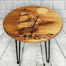 Ships Sailboat End Table Night Stand Industrial Farmhouse Furniture Nautical