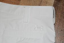 Under Armour Mens UA Bent Grass Golf Shorts Off White Size 36 EUC