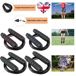 3m/10ft Adjustable Boxing Skipping Rope Gym Fitness Jump Adult Speed Ropes Kids