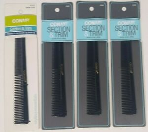 Conair Barber Comb Section And Trim #93503z 4pack