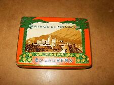 Ancienne boite publicitaire en tôle - 100 cigarettes ED LAURENS Prince De Monaco