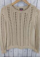 Vince Camuto Beige Cable Knit Pullover Sweater Top Women's Sz S
