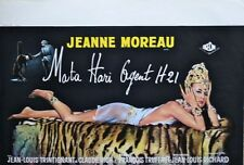 MATA HARI AGENT H21 Belgian movie poster JEANNE MOREAU FRANCOIS TRUFFAUT Mint