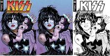 3x KISS BLOOD AND STARDUST #2 JIM BALENT JETPACK/FP EXCL VAR; BW VIRGIN Dynamite