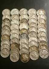 New listing Roll of 50 Mercury Silver Dimes Nicer Coins