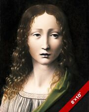 YOUNG JESUS CHRIST ADOLESCENT SAVIOUR PAINTING BOLTRAFFIO ART REAL CANVAS PRINT