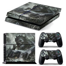 PS4 PLAYSTATION 4 SKIN ADESIVI in PVC per console & 2 PADS * KING TESCHIO *