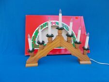 Vintage 1980's Wood  7 Bulb Window Christmas Decoration Arch Bridge lights