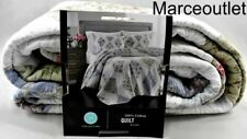 Martha Stewart Collection Diamond Floral Patchwork Full / Queen Quilt Multi