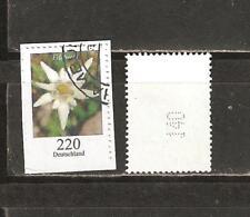 BRD Freimarken Blumen 2530 Edelweis mit Nr. gestempelt.