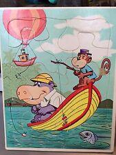 "PETER POTAMUS VINTAGE HANNA-BARBERA TOY FRAME PUZZLE 1965 8.5"" X 11"""