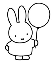 Miffy and Balloon Vinyl Decal Sticker