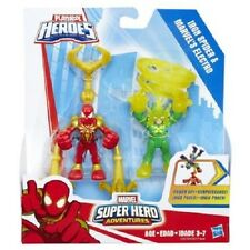 NEW HASBRO PLAYSKOOL SHA POWER UP 2PK IRON SPIDER & MARVEL'S ELECTRO C0270