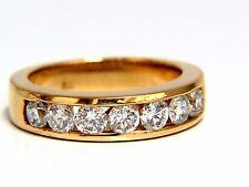 1.30ct natural round diamonds band 14kt H/Vs Classic+