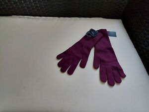 """Gloves"""" M&S""""Collection Burgundy Colour One Size New With Tags"""