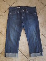 AG Tomboy Relaxed Straight Jeans sz 28 Adriano Goldschmied  Blue Crop