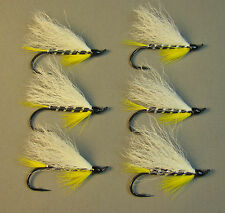 Black Ghost Atlantic Salmon Flies - 6 Fly MULTI-PACK - Sizes 4, 6 and 8