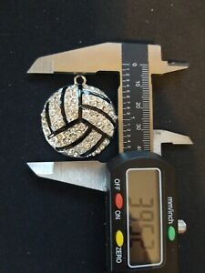 Volleyball Charm Rhinestone and Resin USA Seller and Shipper