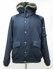 WOOLRICH Men's Navy Blue Hooded Quilted Zip Up Parka Bomber Jacket Size XXL