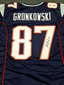 Rob Gronkowski New England Patriots Autographed Signed Jersey XL COA